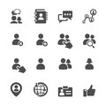 Social network user icon set, vector eps10 Royalty Free Stock Photo