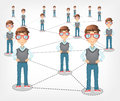 Social Network. Vector EPS 10. Royalty Free Stock Photo