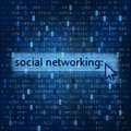 Social networking digital media background concept with and data flow Stock Images
