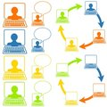 Social Networking Icons Stock Photography
