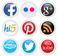 Social networks network icons in white background Stock Image