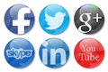 Social networks network icons in white background Royalty Free Stock Photography