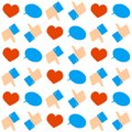 Social networks seamless pattern flat vintage colored Royalty Free Stock Photo