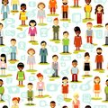 Social people network seamless background Royalty Free Stock Photo