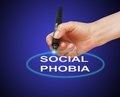 Social phobia writing word disorder with marker on gradient background made in d software Royalty Free Stock Photography