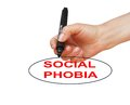 Social phobia writing word disorder with marker on white background made in d software Royalty Free Stock Photos