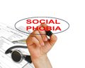 Social phobia writing word disorder with marker on white background made in d software Royalty Free Stock Photography