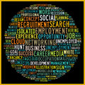Social recruiting concept in word tag cloud Royalty Free Stock Photography