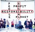 Social responsibility reliability dependability ethics concept Stock Photos