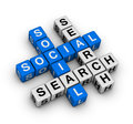 Social search communication crossword puzzle Royalty Free Stock Photos