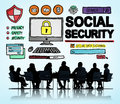 Social security welfare retirement payment concept Royalty Free Stock Photos