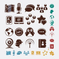 Social set of icons Stock Photography