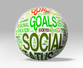Social status globe isolated word concepts clipping path included Royalty Free Stock Photography