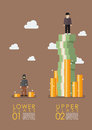 Social stratification gap infographic