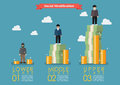 Social stratification with money infographic