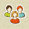 Social user group profile icons Stock Photo
