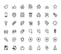 Social web icons zip includes dpi jpg illustrator cs eps svg vector file contain transparency s eps compatible Stock Images