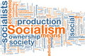 Socialism word cloud Royalty Free Stock Photo