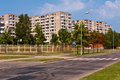 Socialist block flats neighborhood typical blocks of built during communism period in vilnius lithuania Royalty Free Stock Photo