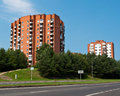 Socialist block flats neighborhood typical blocks of built during communism period in vilnius lithuania Royalty Free Stock Photos