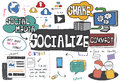 Socialize Sharing Social Media Connect Concept Royalty Free Stock Photo