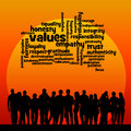 Society values overview of in Royalty Free Stock Photo