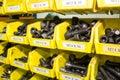 Socket screw in toolbox Royalty Free Stock Photo