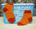 Socks knitted Royalty Free Stock Photo