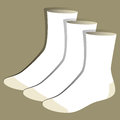 Socks template Royalty Free Stock Photo