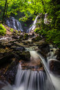 Soco Falls in Cherokee, N.C Royalty Free Stock Photo