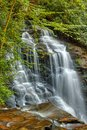 Soco falls of cherokee is a waterfall dream located in the nation off the side the road connecting maggie valley to in Royalty Free Stock Photography