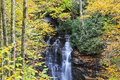 Soco falls in nc near cherokee north carolina the fall Royalty Free Stock Image