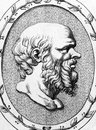 Socrates bc bc on engraving from classical greek athenian philosopher considered one of the founders of western philosophy Stock Photos