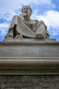 Socrates statue in athens greece Royalty Free Stock Photo