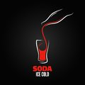 Soda bottle splash design menu background eps version Stock Image