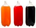 Soda Bottles Isolated Royalty Free Stock Photo