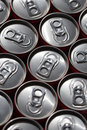 Soda cans closed in pattern Royalty Free Stock Photography