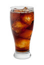 Soda Cola Isolated with clipping path Royalty Free Stock Photo