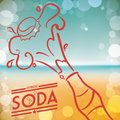 Soda design drink concept about vector illustration Stock Image
