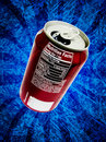 Soda pop can nutrition facts Royalty Free Stock Photo