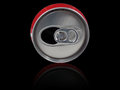 Soda pop can ring Royalty Free Stock Images