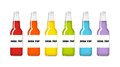 Soda pop rainbow bottles in colors Royalty Free Stock Photography