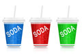 Soda take out. Royalty Free Stock Image