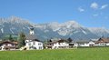 Soell north tirol austria the popular village of am kaisergebirge Royalty Free Stock Photography
