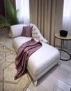 Sofa élégant de salon dans un style classique luxueux Images libres de droits