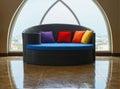 sofa bed and skylight windows Royalty Free Stock Photo