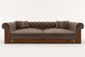 Sofa brown Royalty Free Stock Photos