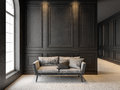 Sofa In Classic Black Interior...