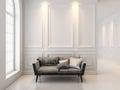 Sofa In Classic White Interior...