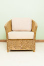 Sofa furniture weave bamboo chair for any use Royalty Free Stock Image